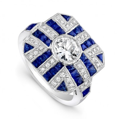 White Gold Ladies Fashion Ring R10023