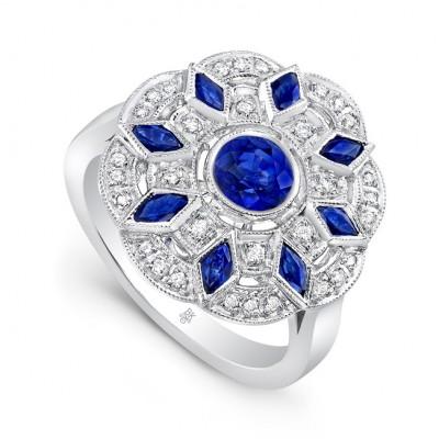 White Gold Ladies Fashion Ring R10026