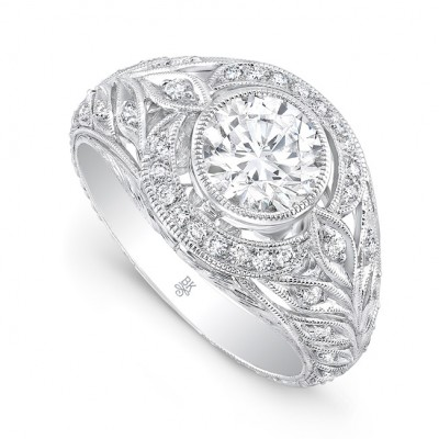 White Gold Ladies Engagement Ring R10372(A)-D,D,CZ