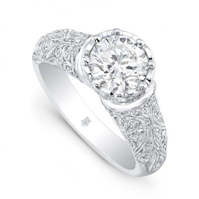 White Gold Ladies Engagement Ring R10399(A)-D,D,CZ