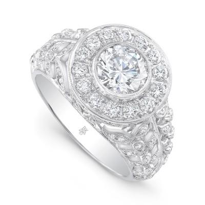White Gold Ladies Engagement Ring R10436(A)-D,D,CZ