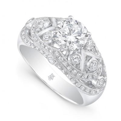 White Gold Ladies Engagement Ring R10473(A)-D,D,CZ