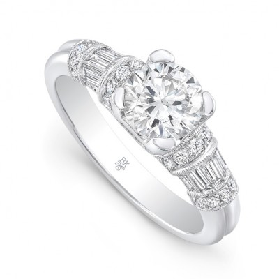 White Gold Ladies Engagement Ring R10527A-D