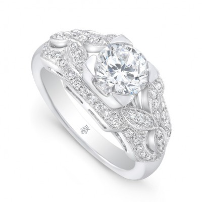 White Gold Ladies Engagement Ring R10532(A)-D,D,CZ