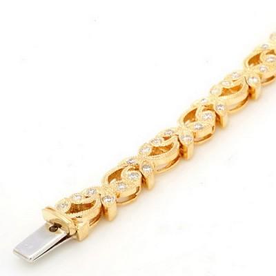 Yellow Gold Ladies Bracelet B123-D,D