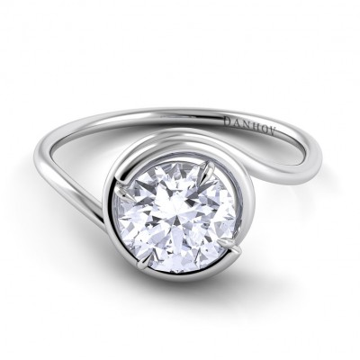 Swirl Engagement Ring AE133