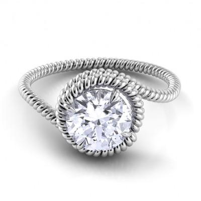 Swirl Engagement Ring AE135