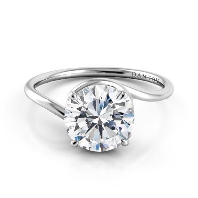 Swirl Engagement Ring AE508P