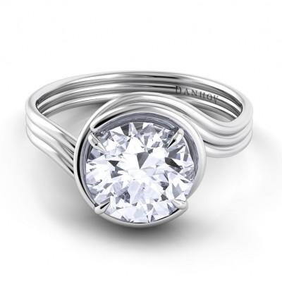 Award Winning Swirl Engagement Ring