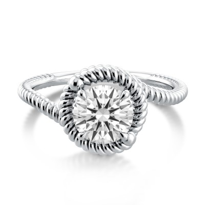 Swirl Engagement Ring AE519P