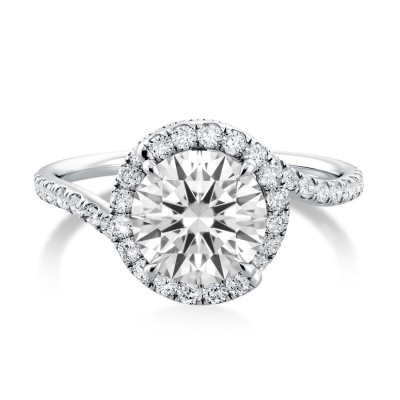 Ruby Swirl Diamond Ring AE520UQ