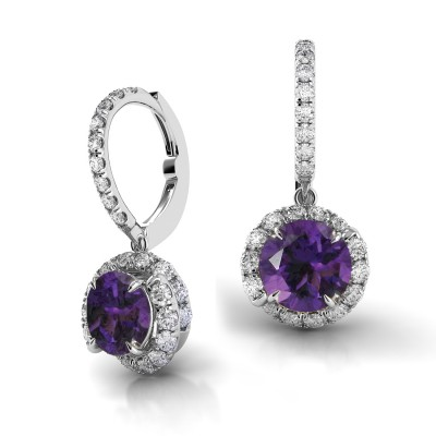 Swirl Diamond Drop Earrings AH101-AM