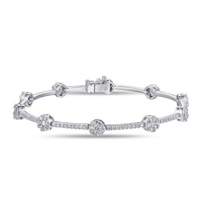 14k White Gold Ladies Bracelet B01134-RD.W