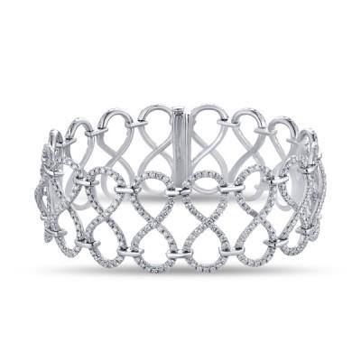 14K White Gold Ladies Bracelet B01156