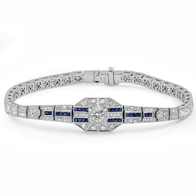 White Gold Ladies Bracelet B10132-D,S,D