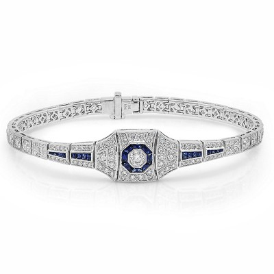 White Gold Ladies Bracelet B10135-D,S,D
