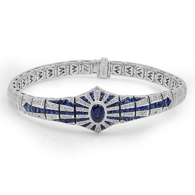 White Gold Ladies Bracelet B10139-D,S,S