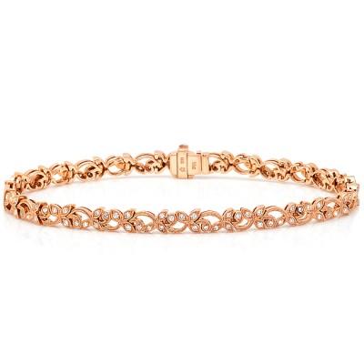 Rose Gold Ladies Bracelet B123- D,D