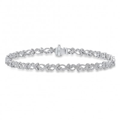 White Gold Ladies Bracelet B123 -D,D