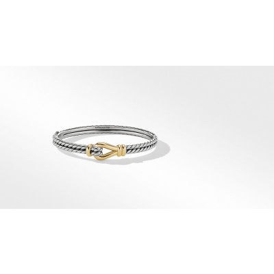 Thoroughbred Loop Bracelet with 18K Yellow Gold