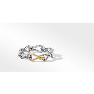Thoroughbred Loop Chain Bracelet with 18K Yellow Gold