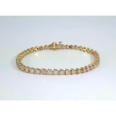 14k Yellow Gold Ladies Bracelet B3688