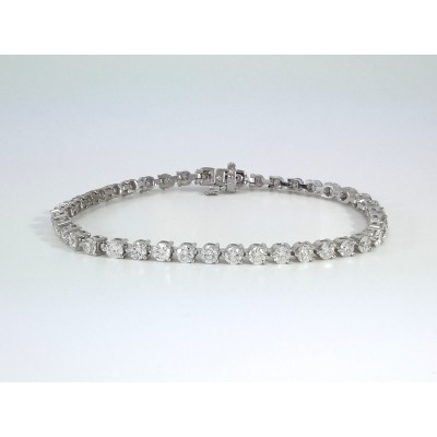 14k White Gold Ladies Bracelet B3689