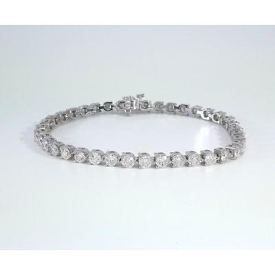 14k White Gold Ladies Bracelet B3690