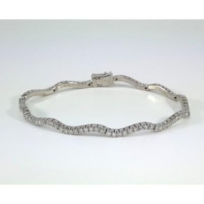 18k White Gold Ladies Bracelet B3691