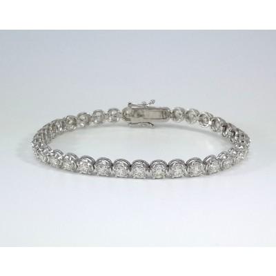 14k White Gold Ladies Bracelet B3693
