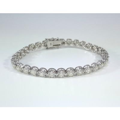 14k White Gold Ladies Bracelet B3694