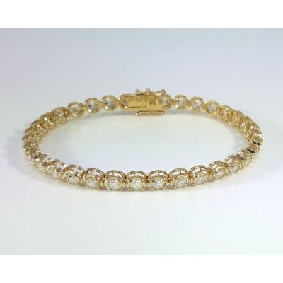 14k Yellow Gold Ladies Bracelet B3696