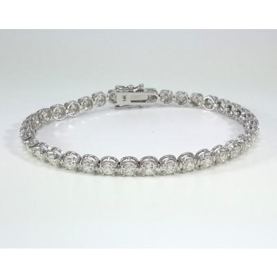 14k White Gold Ladies Bracelet B3697