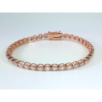14k Rose Gold Ladies Bracelet B3698