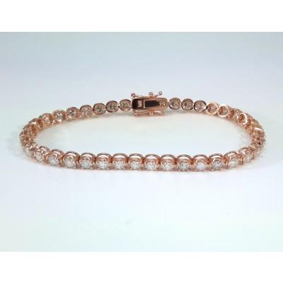 14k Rose Gold Ladies Bracelet B3699
