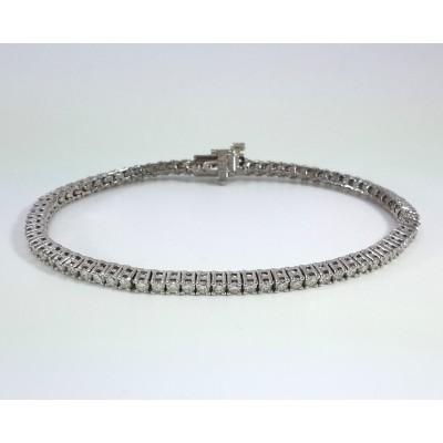 14k White Gold Ladies Bracelet B3700