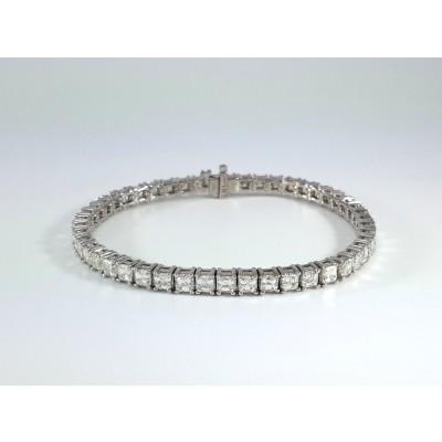 18k White Gold Ladies Bracelet B3701