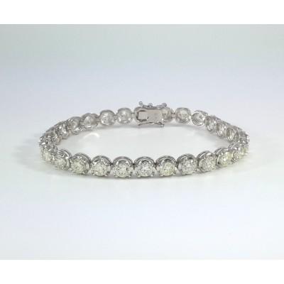 18k White Gold Ladies Bracelet B3702
