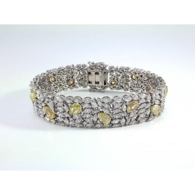 18k White Gold Mens Bracelet B3703