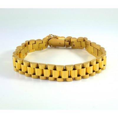 18k Yellow Gold Mens Bracelet B3704
