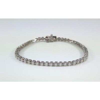 14k White Gold Ladies Bracelet B3726