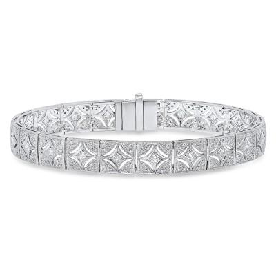White Gold Ladies Bracelet B637