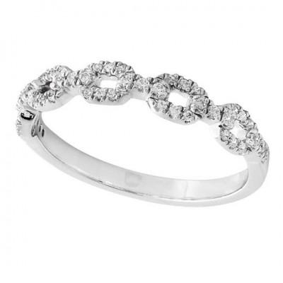 Chain Link Diamond Half Way Band