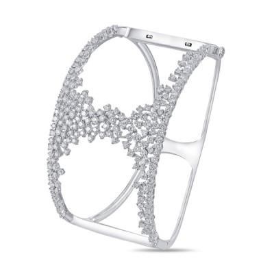 14K White Gold Ladies Bracelet BNG00260