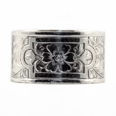 BR026 | Sterling silver die rolled ring