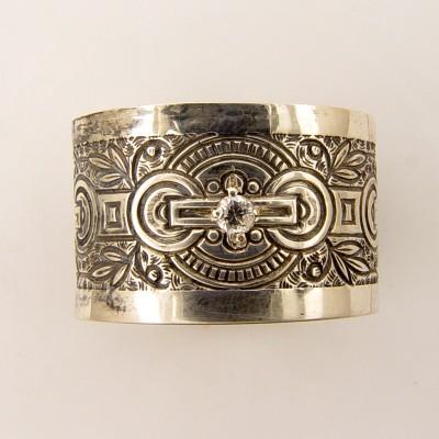 BR039 | Antique | Engraved Bracelet | Die Struck | Gold | Silver |