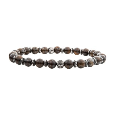 Bronze Stones with Black Oxidized Beads Bracelet