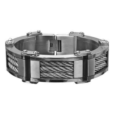 Three Cable Link Bracelet