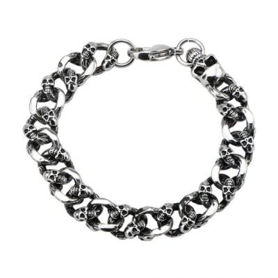 Skulls Curb Chain Bracelet