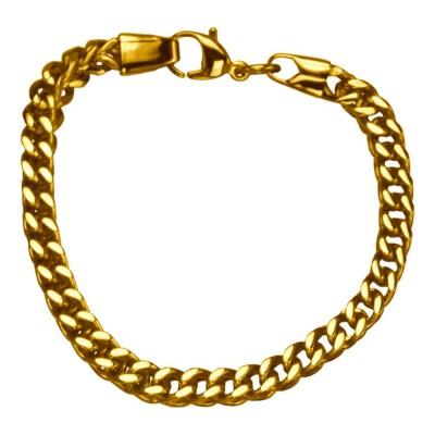 Plated Gold Franco Chain Bracelet